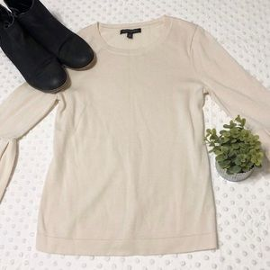 Banana Republic Cream Sweater with Bell Sleeves